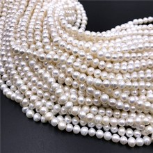 Natural Pearl Beads Real Freshwater Pearl Beads Baroque Loose Pearl For DIY Bracelet Necklace Jewelry Making 14.5 strand 16 inches 16 17mm white flower shaped natural nucleated baroque pearl loose strand for necklace