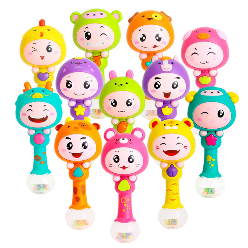 Brinquedos Para Bebe Baby Musical Toys For Baby 0-12 Months Cartoon Animals Light Baby Rattles Oyuncak