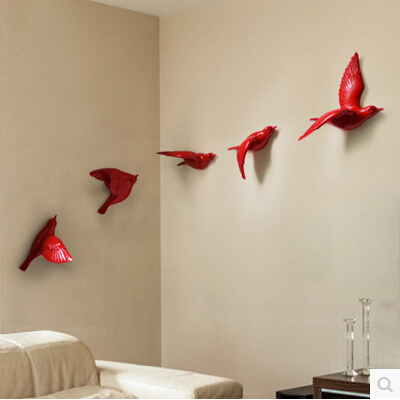 Superb 2018 European 3D Resin Bird Wall Stickers Home Furnishing Resin TV  Background Wall Decoration Resin Birds Stickers 5pcs A Set In Wall Stickers  From Home ...