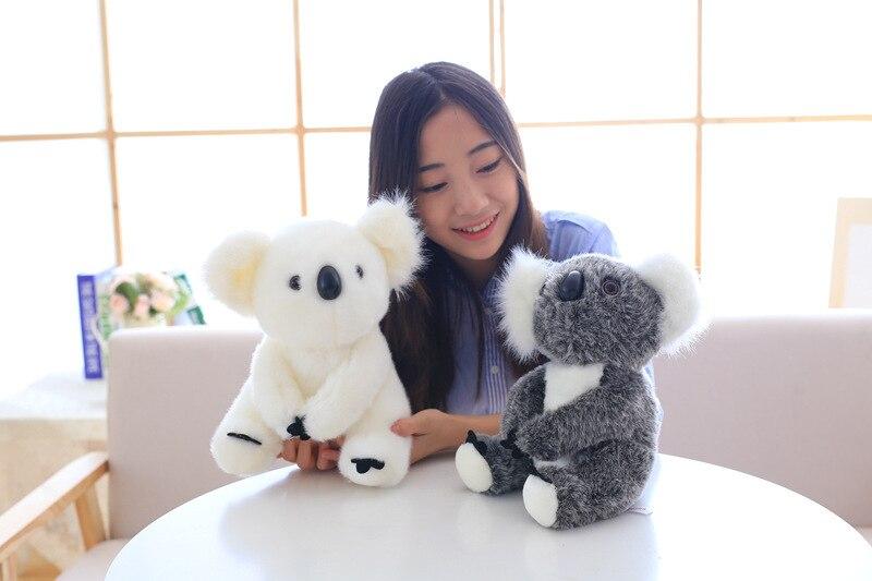 28 см супер мило сидит матери и ребенка коалы плюшевые игрушки родителей коалы Куклы Kawaii куклы мягкая подушка на день рождения подарок