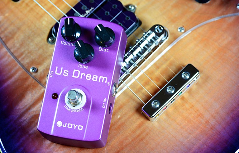 Joyo JF-34 US Dream Guitar Effect Pedal with Free Pedal Case joyo jf 34 high gain distortion us dream guitar effects with 3 knobs