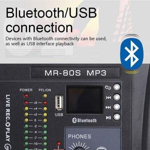 Image 3 - G MARK MR80Sオーディオミキサー音楽スタジオミキシングコンソールアナログミキサー7モノラル1ステレオusb MP3 bluetooth 48v電源クリスマスパーティー