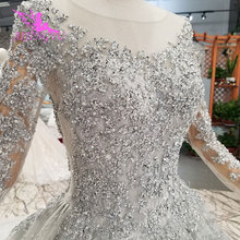 AIJINGYU Shiny Gown Luxury Lace Gowns Queen Romantic Bridal Mexican 2021 2020 Ball Dresses Simple Wedding Dress