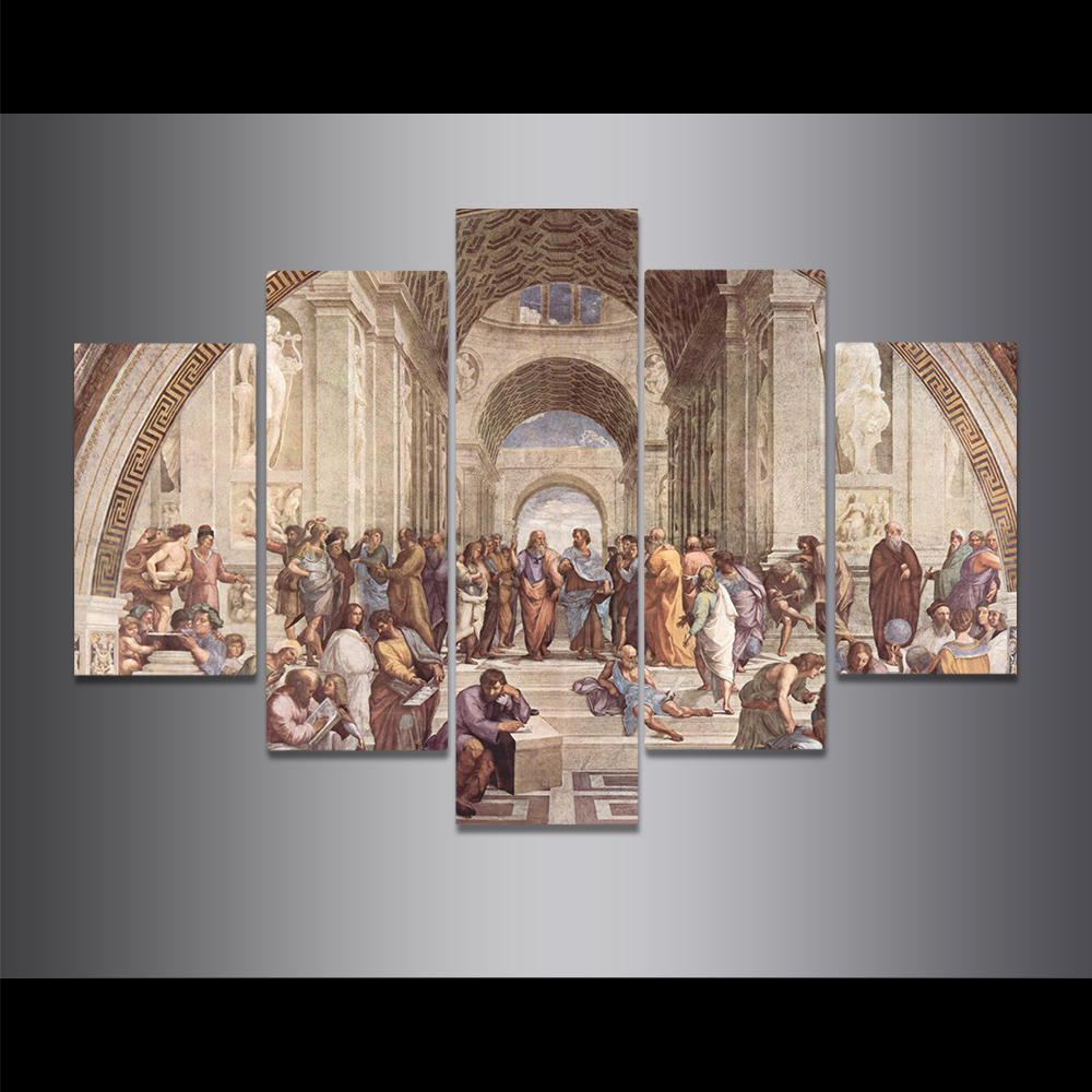 Unframed Canvas Painting Raffaello Santi Mural Athens Academy Picture Prints Wall Picture For Living Room Wall Art Decoration