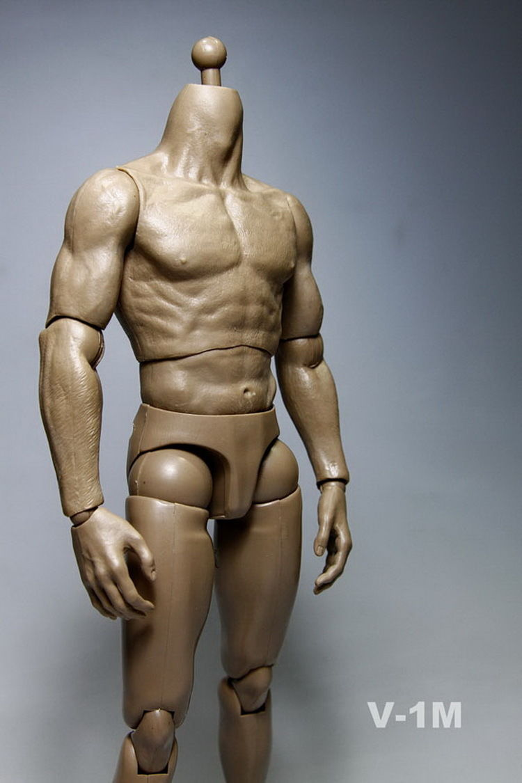 V-1M 1//6 Strong Muscle Dark Brown Skin 12inch Male Action Figure Body Toys Dolls