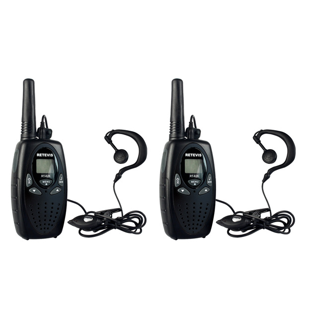 2pcs Retevis Walkie Talkie RT628 Kids+Headset Mini Portable cb Radio 22CH 0.5W UHF 462-467MHz Children Radio Communicator A1026A