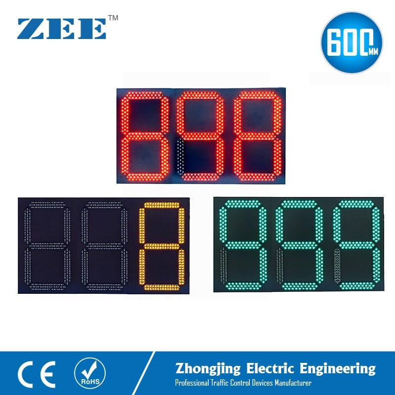 СВЕТОДИОДНЫЙ светофор таймер обратного отсчета 3 цифры 3 цвета Трафика сигнал обратного отсчета 0 999 секунд