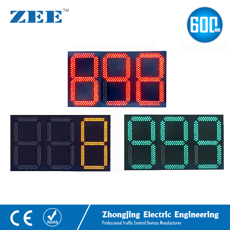 LED Traffic Light Count Down Timer 3 Digits 3 Colors Traffic Signal Countdown 0-999 Seconds