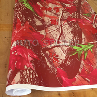 1.52*5/10/15/20/25/30M Red Realtree Camo Vinyl Sticker Real Tree Camouflage Vinyl Wrap For Car Truck Furniture Stickers