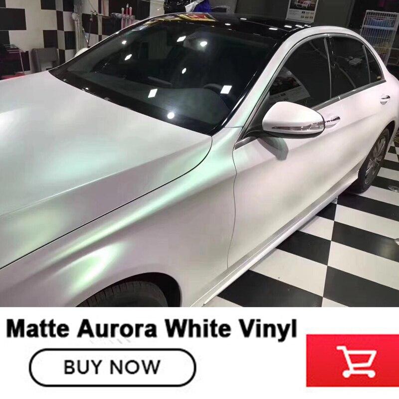 Premium Aurora Pearl white Vinyl Luxury Wrap Pearlescent White Matte glossy Decorative Film With Air Release size 5/10/20m