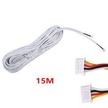 15 м 2,54*4 P 4 провода кабель для видеодомофона цветной видеодомофон проводной дверной звонок Домофон