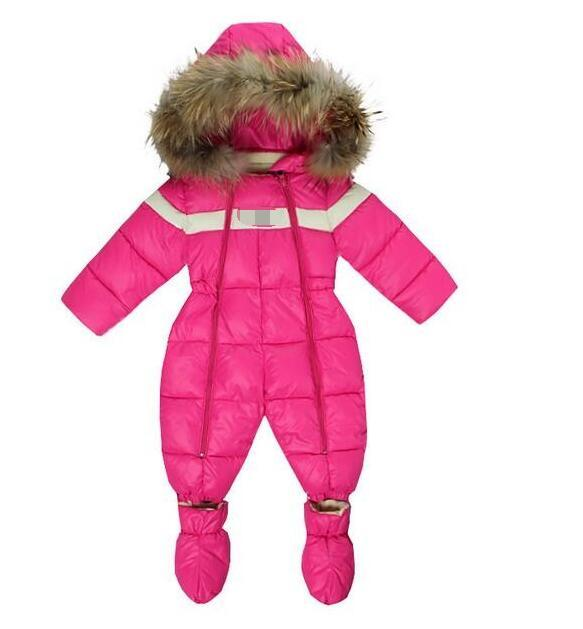 Fashion New Baby Girls Winter Warm Romper for Newborn Clothing Down Cotton Coats Thermal Jumpsuit Outerwear Free shipping SPSR