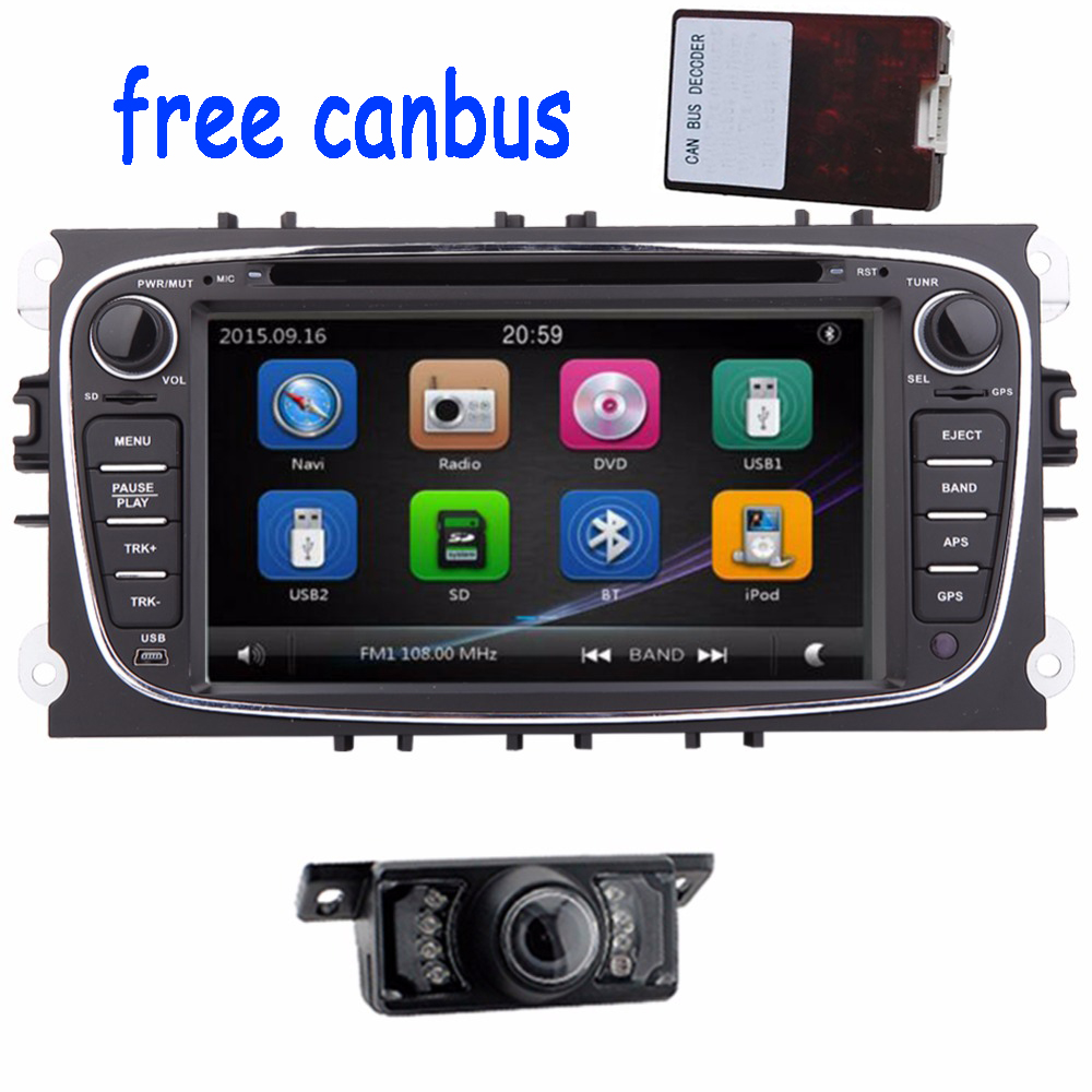 2 din car dvd player gps navigation player for ford mondeo and focus s max autoradio 2 din radio. Black Bedroom Furniture Sets. Home Design Ideas