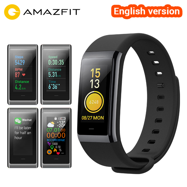 [English Version] Amazfit Cor MiDong Band 1.23 inch Color IPS Screen Smart Wristband Heart Rate Monitor Waterproof 50m