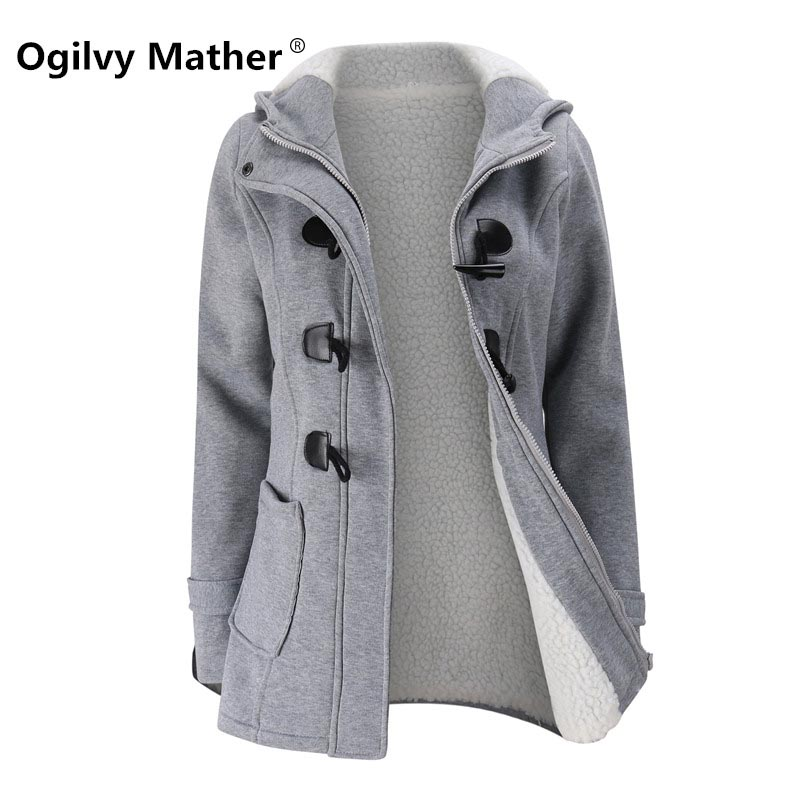 womens winter jackets and coats Hot selling 2018 Plush lamb Parkas  for women 6 colour Hooded female jacket coat S-5XL