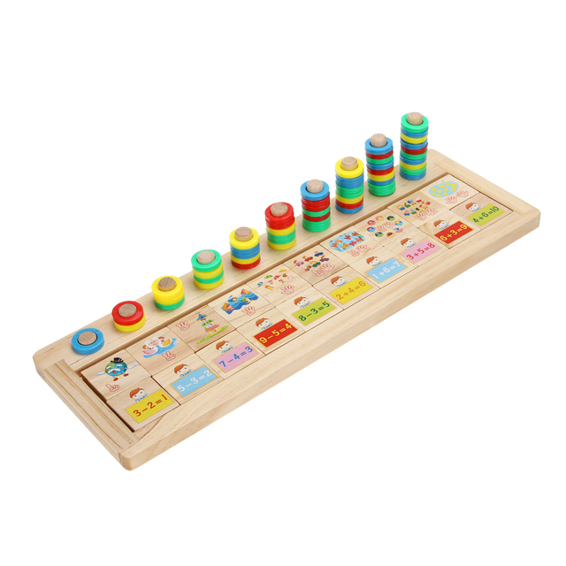 Professional Math Operation Board Puzzles Montessori Teaching Tool Number Wooden Game Preschool Toy For