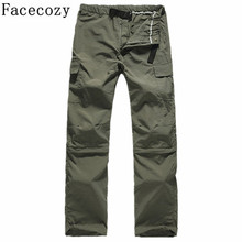Facecozy Men s Summer Outdoor Hunting Hiking Pant Male Fishing Pants Removable Breathable Camping Pants