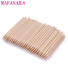 100 Pcs Nail Art Design Orange Wood Stick Sticks Cuticle Pusher Remover Manicure Pedicure Care,MAFANAILS недорого