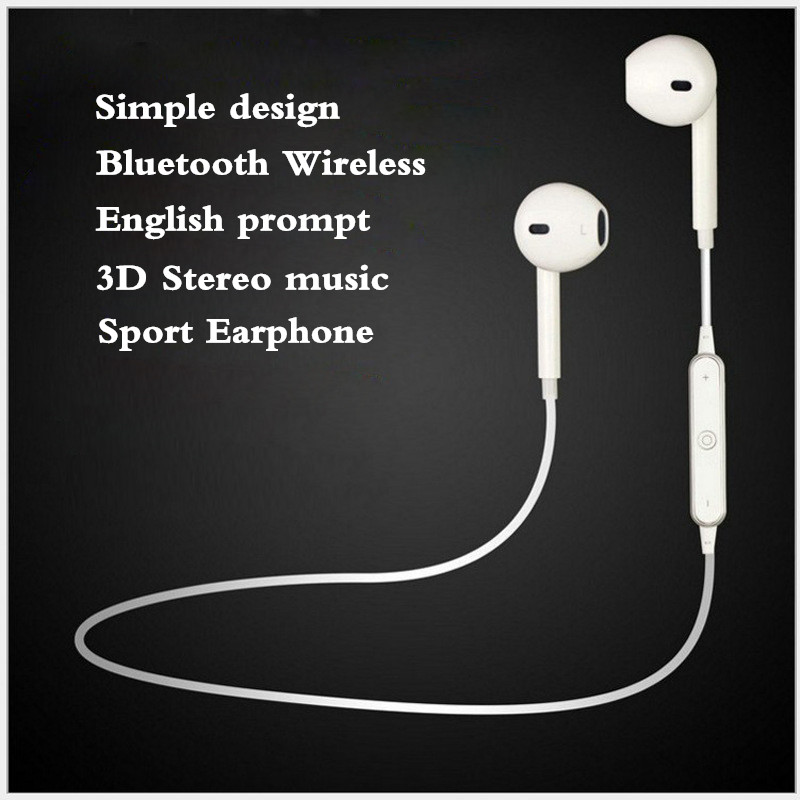 2017 High Quality Sport Wireless Bluetooth Headset Earphone Headphones Microphone For iPhone 7 Plus 6s Xiaomi Android Earphone 2016 remax 2in1 mini bluetooth headphones usb car charger dock wireless car headset bluetooth earphone for iphone 7 6s android