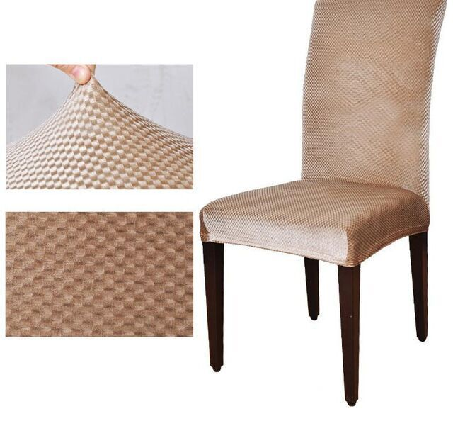 Charmant Universal Fashion High Back Spandex Elastic Chair Cover Dining Housse De  Chaise Office Computer Couverture Chaise