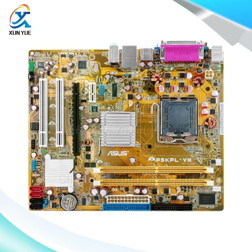 P5KPL-VM Original Used Desktop Motherboard Intel G31 Socket LGA 775 DDR2 SATA2 Micro ATX asus original motherboard g31m3 l v2 g31 ddr2 lga 775 desktop motherboard