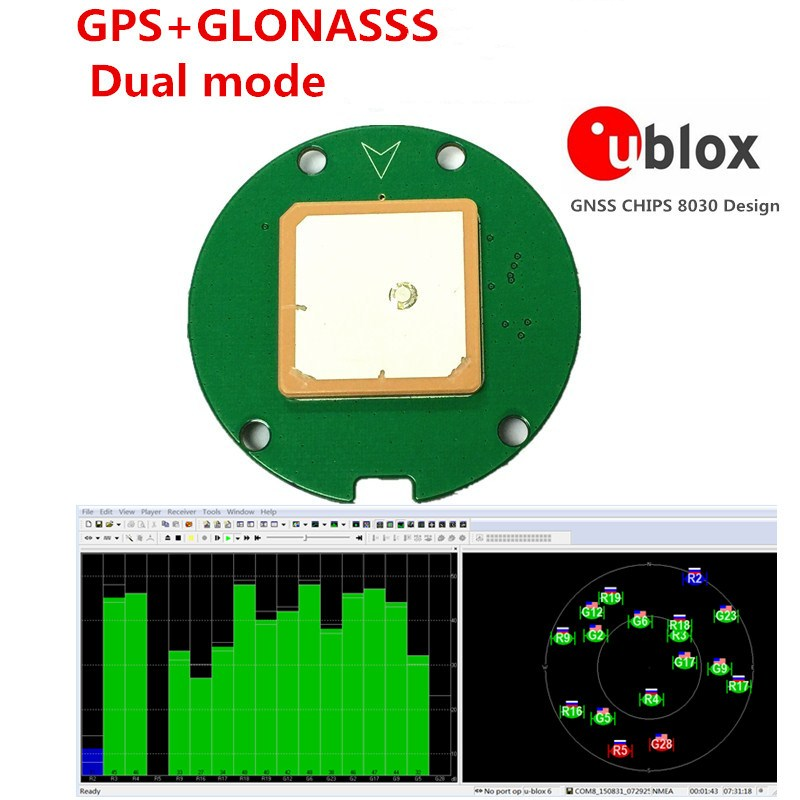 Use Ublox NEO-M8N GNSS chip Design GPS Module,GPS GLONASS Dual mode Support 5-10HZ output UART TTL level, цена