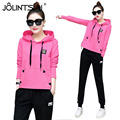 Tracksuit for women Spring And Autumn 2017 Patchwork Hooded Hoodies Pants Women's 2 Piece Set 5 Colors Sporting Suits Women