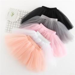 New Baby Girls Tutu Skirts Kids Elastic Waist Pettiskirt Girl Princess Tulle Skirt Colorful Ball Gown Skirts Children Clothing