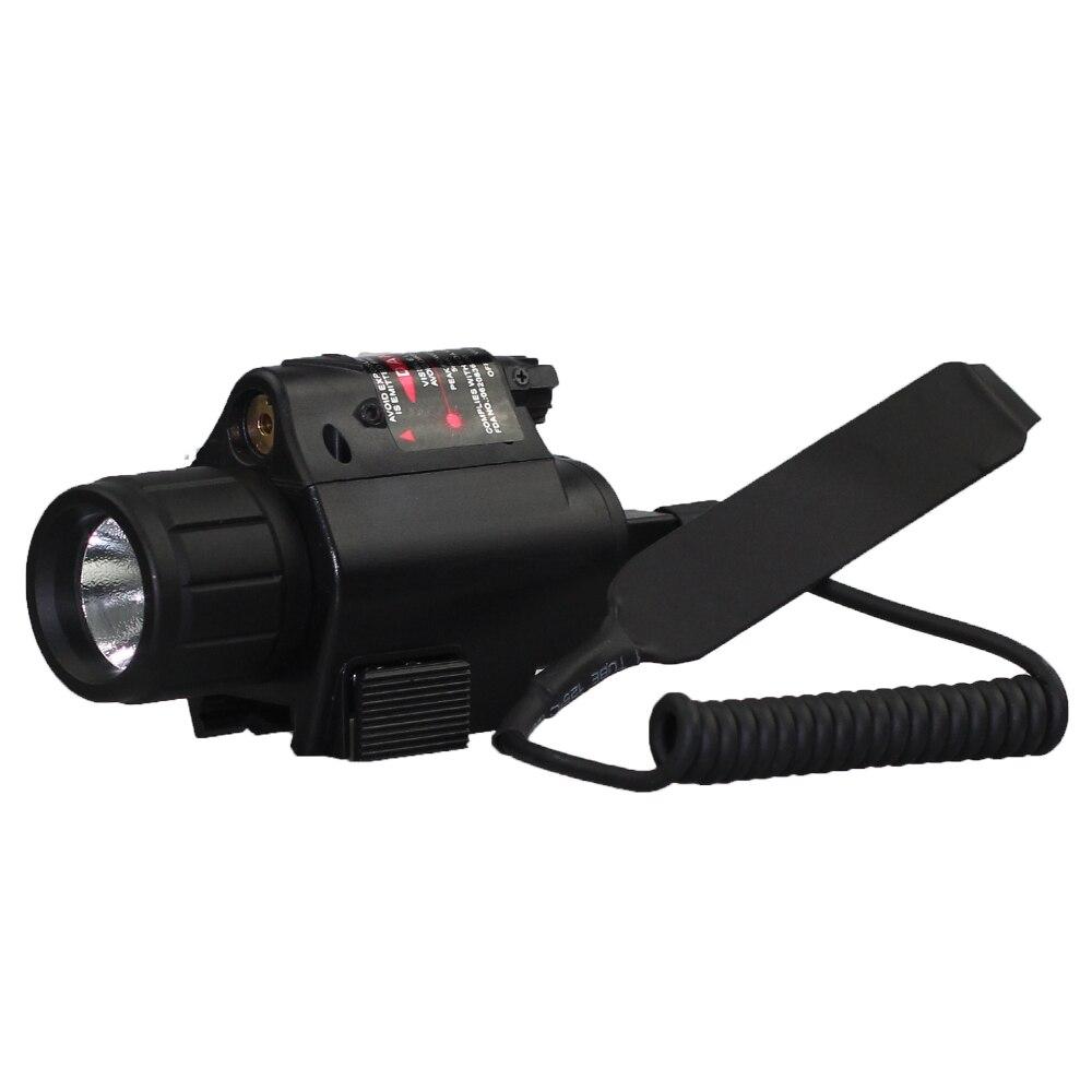 Tactique Rouge Laser avec LED lampe de Poche Combo Pour 20mm Rail Pistolet Mini Glock Pistolet Pistolet Lumière