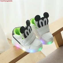 New Autumn Kids Led Shoes Fashion Glowing Sneakers For Girls