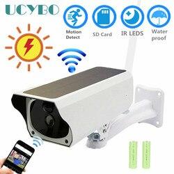 Ip di Wifi della macchina fotografica 1080 P HD di energia solare batteria esterna impermeabile infared IR wireless audio video cctv di sicurezza di sorveglianza ip cam