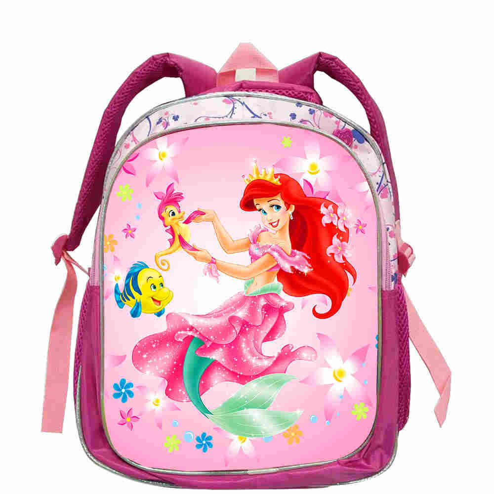 Little Mermaid Ariel Princess Backpack Kids School Bag Schoolbag Kindergarten Pink Preschool Elementary Satchel For Girls
