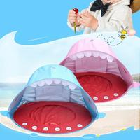 Shark shape Pop Up Baby Beach Tent UV protecting Sunshelter with Pool Kids Outdoor Camping Sunshade Beach Awning Tent