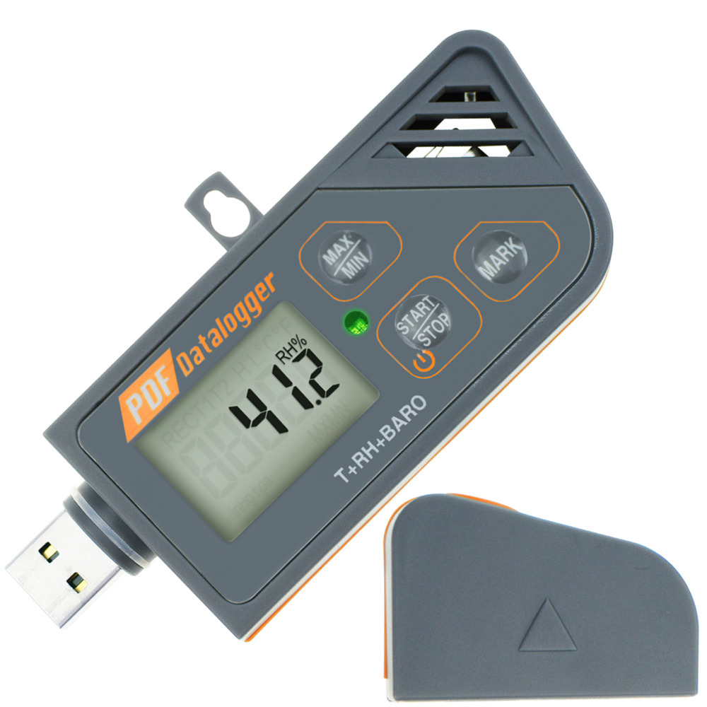 Digital USB Datalogger Humidity Temperature & Pressure Barometric Data Logger gauge Waterproof PDF & Excel report LED indicator new usb temp temperature humidity datalogger data logger record meter 40 70c