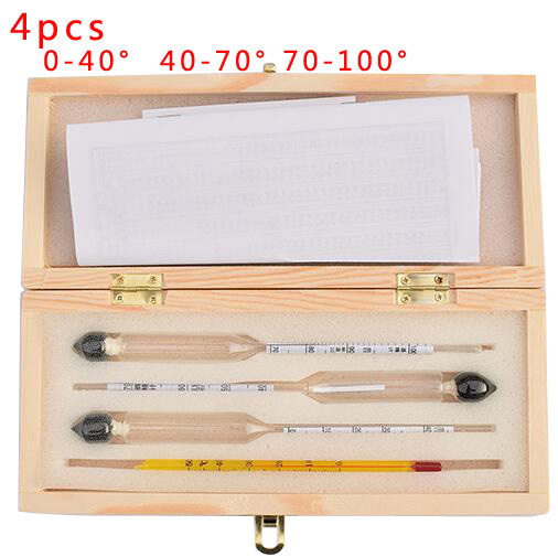 Alcoholmeter wine Alcohol Meter Wine Concentration Meter Vodka Whiskey Alcohol Instrument Wine Hydrometer Tester Wooden box wine things wt 1409p grapevine wine charms painted