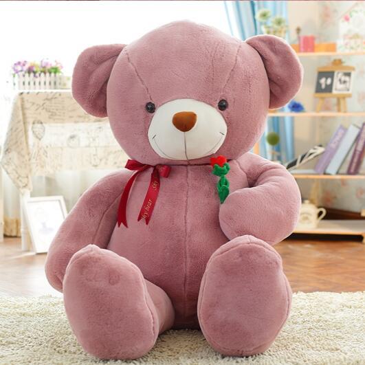 Énorme Main rose ours en peluche grande taille ours poupée Cadeau pour petite amie de Valentine Jour proposition cadeaux 100 cm -160 cm