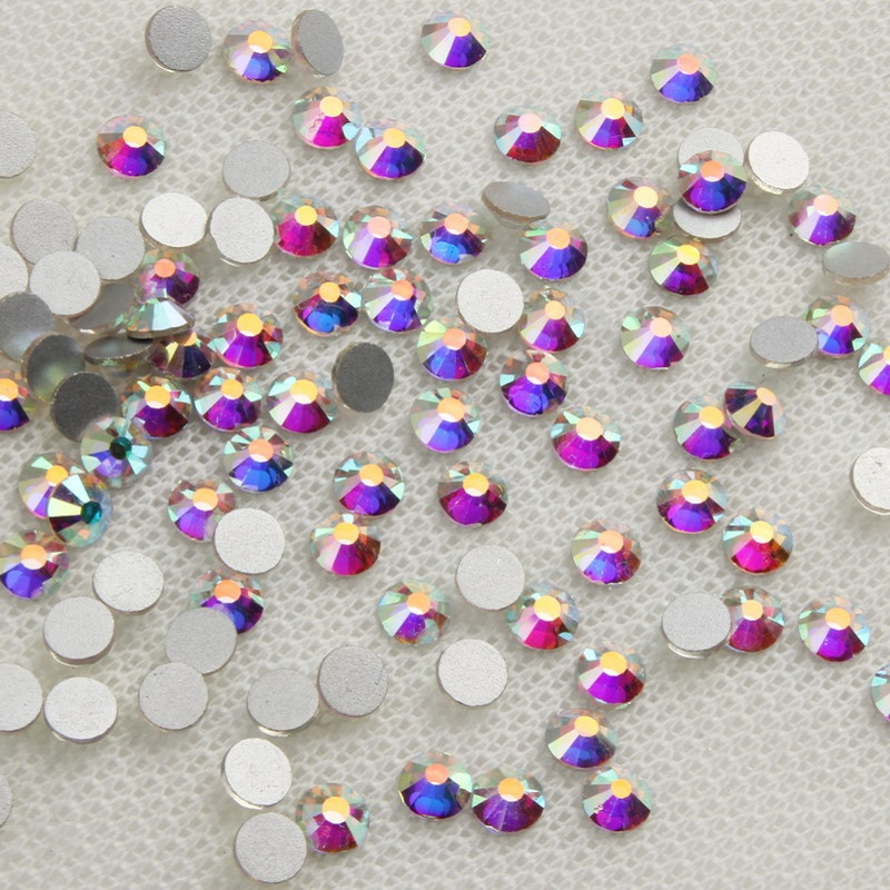 ELESSÉGES Lézer kristály AB strasszos körmök lapos hátsó - Köröm művészet - Fénykép 6