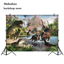 Mehofoto Dinosaur World Party Photography Backdrops Cartoon Wall Background for Photo Birthday Props Island 769 mehofoto happy mother s day party backdrops photography flowers background photographic for mother props for photo shoot