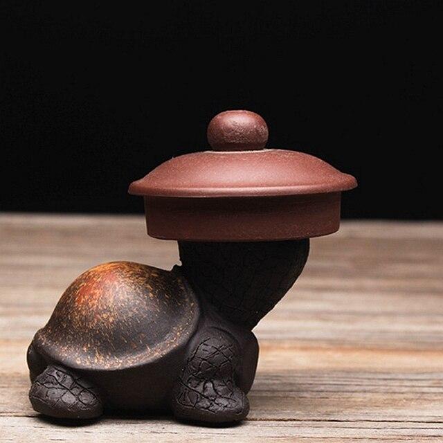 Подставка для крышки чайного горшка из фиолетовой глины для домашних животных