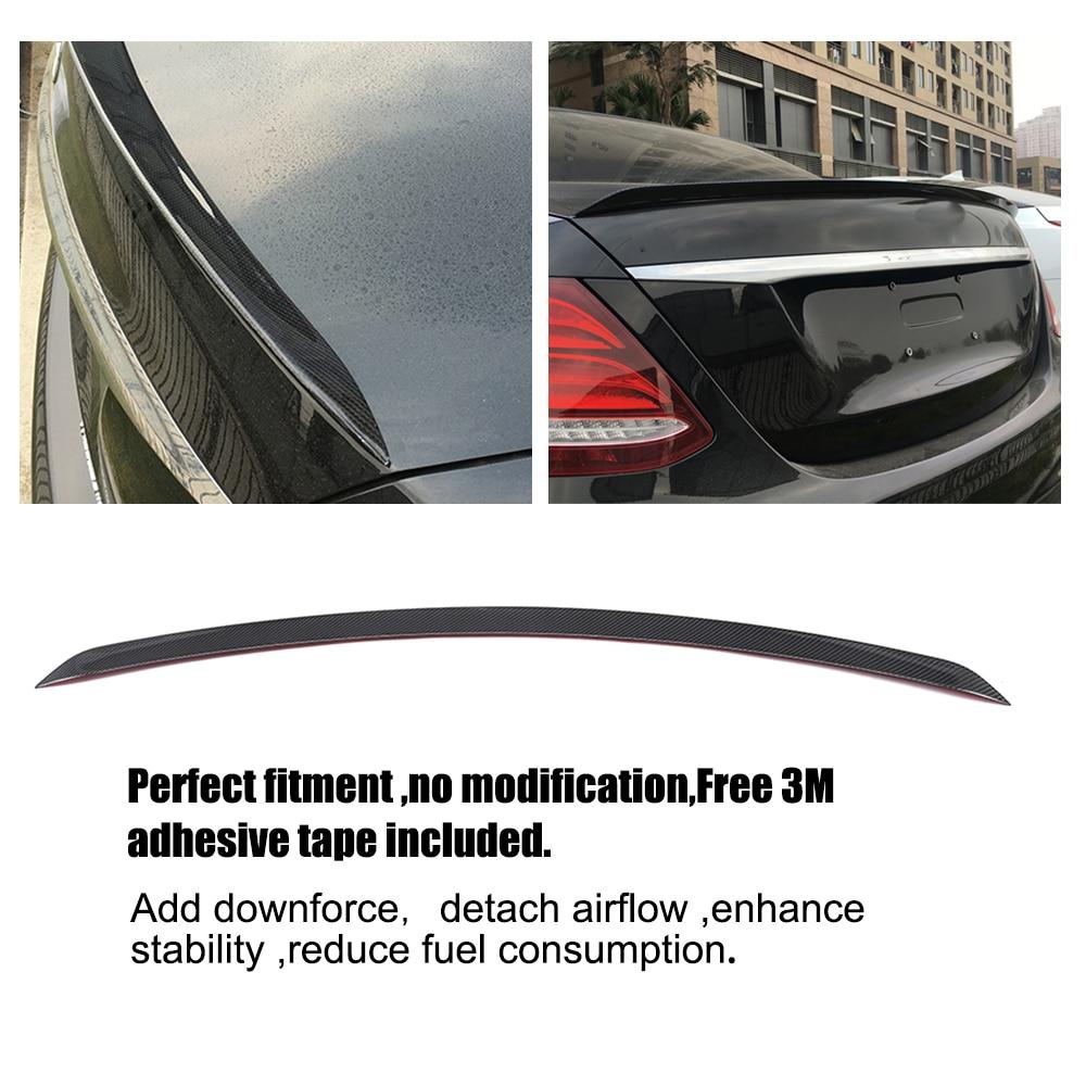 Kolfiber bakre bagagerum Boot Lip Spoiler för Mercedes Benz E-klass - Reservdelar och bildelar - Foto 5