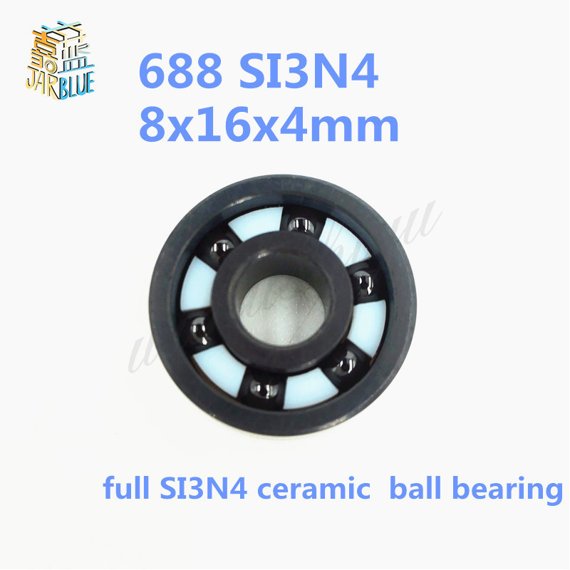 Free shipping 688 full SI3N4 ceramic deep groove ball bearing 8x16x4mm for bike part free shipping 50pcs lot miniature bearing 688 688 2rs 688 rs l1680 8x16x5 mm high precise bearing usded for toy machine