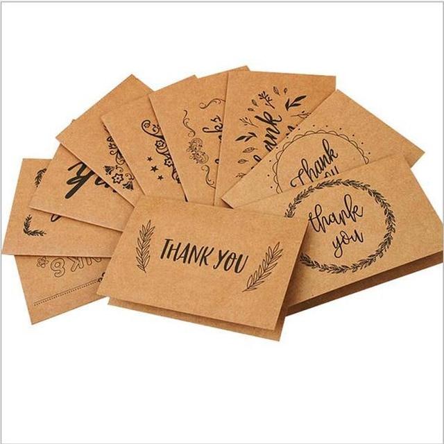 hot 100 stks/setretro party dank u kaarten envelop schrijven