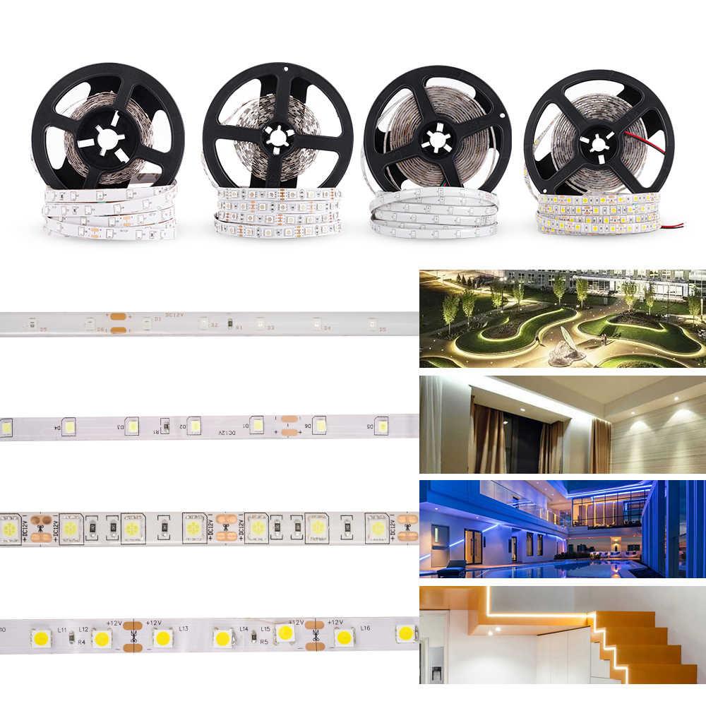 LUCKYLED 5 M LED Strip 12 v RGB Không Thấm Nước 5050 2835 SMD Diode RGB Băng Băng Linh Hoạt DẪN Dải Ánh Sáng 60 leds/m LED Sọc