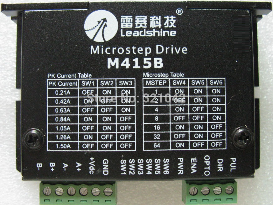 M415B Leadshine two-phase stepper motor driver 20 28 35 39 42 57 Stepper motor driver 64 subdivided by 1.5A 42 step motor driver 2m320 stepper motor driver with 20 28 35 39 42 step drive electrical equipment supplies motor accessories