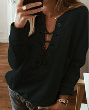women hoodies gothic sweatshirts ladies 2018 autumn fall clothing big v-neck bandage sexy winter sweatshirt vintage