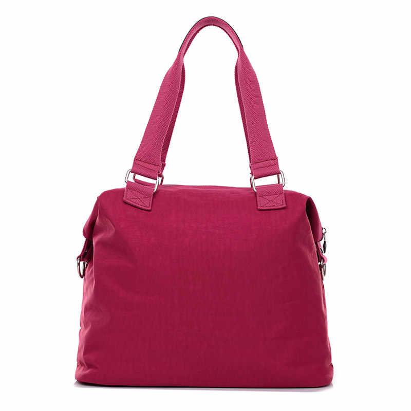 Frauen Taschen Handtasche bolsas feminina Nylon feste Beiläufige Tote tasche Mode Handtasche Weiche Umhängetasche für frauen