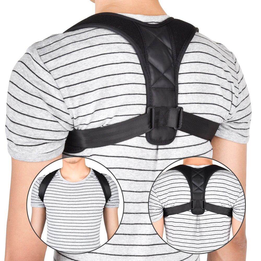 Espalda ajustable clavícula Spine volver hombro lumbar cinturón de apoyo postura corrección evita encorvarse