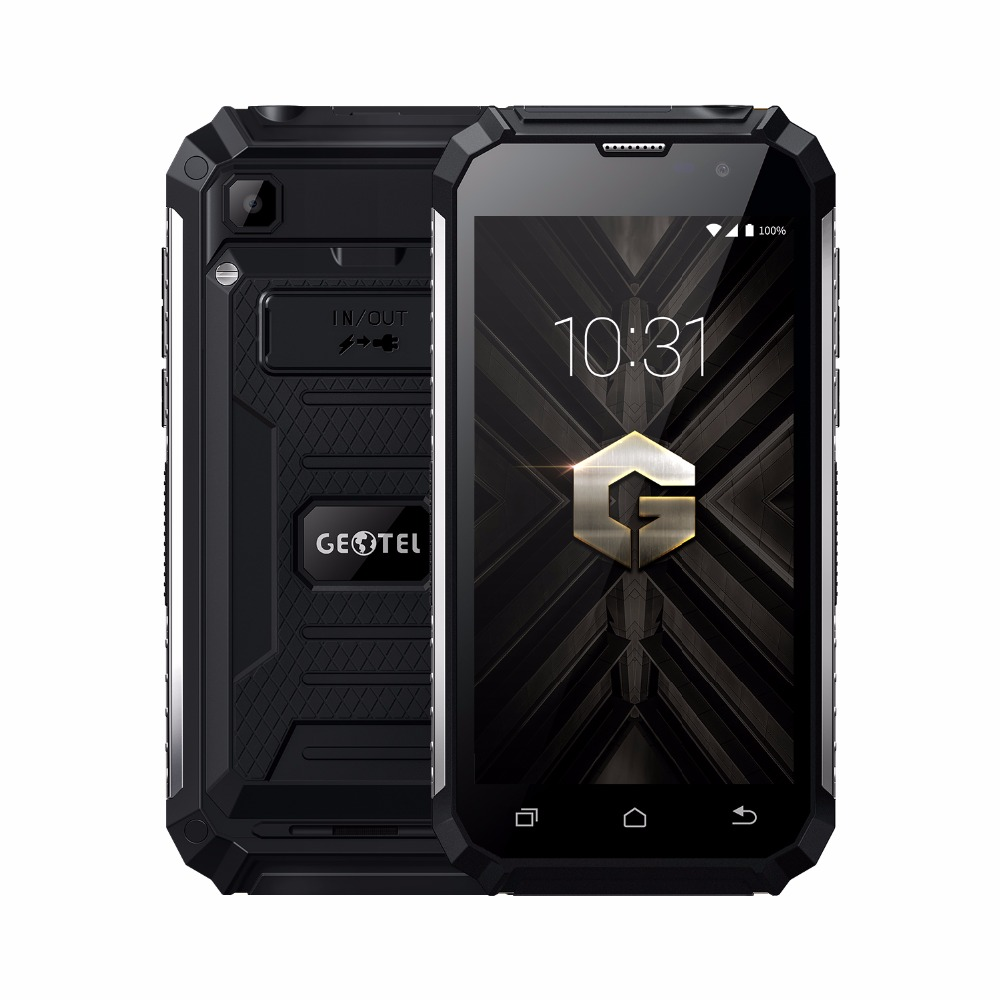 Original Geotel G1 3G Smartphone 7500mAh Power Bank Andriod 7.0 cellphone <font><b>MTK6580A</b></font> Quad core 2GB+16GB 5.0