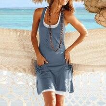 Summer Dresses Women Casual Plus size 3xl 4xl 2pcs set A-shirt Dress Sleeveless 2018 Big size Short Mini Woman Dress