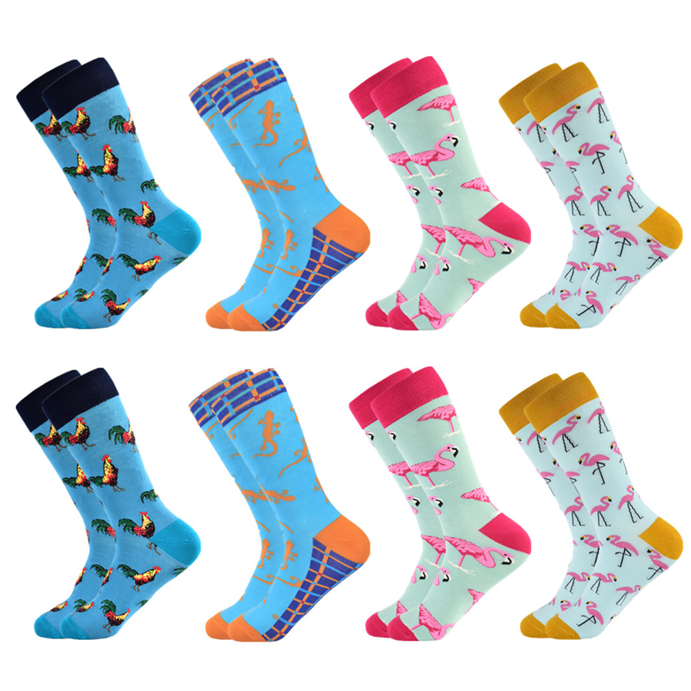 Men's Socks Hot Fashion Men's Happy Combed Cotton Wedding Socks Colorful Customized Color Socks